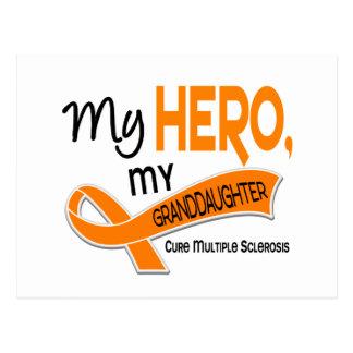 MS Multiple Sclerosis MY HERO MY GRANDDAUGHTER 42 Postcard