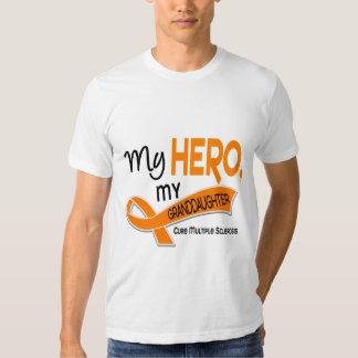 MS Multiple Sclerosis MY HERO MY GRANDDAUGHTER 42 T-shirt