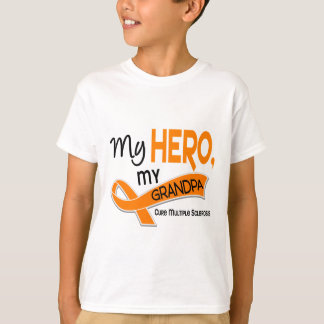 MS Multiple Sclerosis MY HERO MY GRANDPA 42 T-Shirt