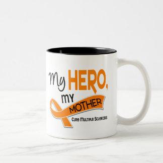 MS Multiple Sclerosis MY HERO MY MOTHER 42 Two-Tone Coffee Mug