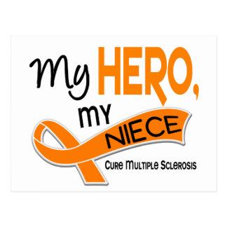 MS Multiple Sclerosis MY HERO MY NIECE 42 Postcard