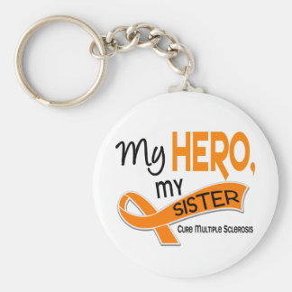 MS Multiple Sclerosis MY HERO MY SISTER 42 Keychain