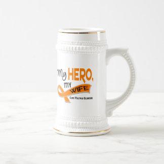 MS Multiple Sclerosis MY HERO MY WIFE 42 Coffee Mugs