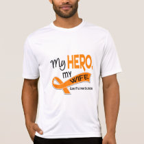 MS Multiple Sclerosis MY HERO MY WIFE 42 T-Shirt