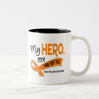 MS Multiple Sclerosis MY HERO MY WIFE 42 Two-Tone Coffee Mug