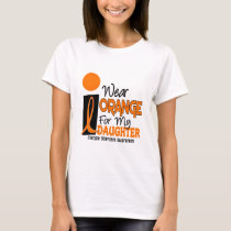 MS Multiple Sclerosis Orange For My Daughter T-Shirt