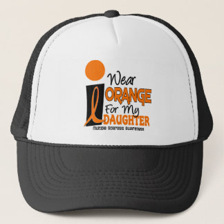 MS Multiple Sclerosis Orange For My Daughter Trucker Hat
