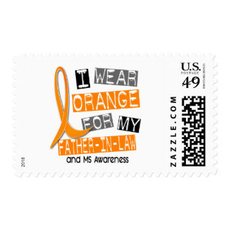 MS Multiple Sclerosis Orange For My Father-In-Law Stamps