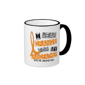 MS Multiple Sclerosis Orange For My Grandfather Coffee Mug