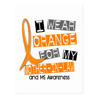 MS Multiple Sclerosis Orange For My Mother-In-Law Postcard