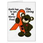 MS   ( Multiple Sclerosis ) teddy bear ribbon Card