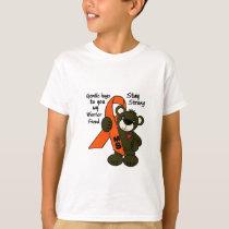 MS   ( Multiple Sclerosis ) teddy bear ribbon T-Shirt