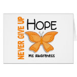 MS Never Give Up Hope Butterfly 4.1 Greeting Card
