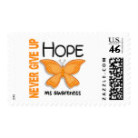 MS Never Give Up Hope Butterfly 4.1 Stamp
