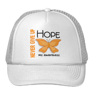 MS Never Give Up Hope Butterfly 4.1 Trucker Hat