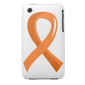MS Orange Ribbon 3 iPhone 3 Cases