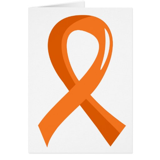 MS Orange Ribbon 3 Greeting Card