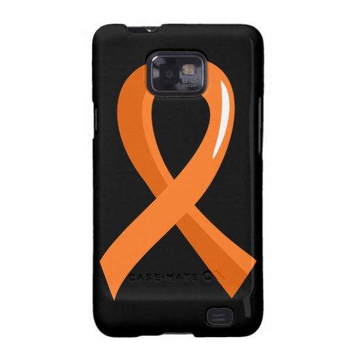 MS Orange Ribbon 3 Samsung Galaxy S2 Case
