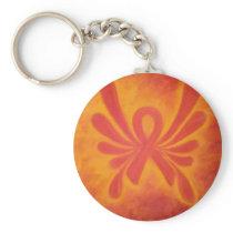 MS orange ribbon keychain