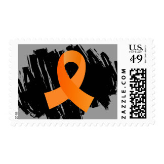 MS Orange Ribbon With Scribble Stamp
