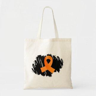 MS Orange Ribbon With Scribble Tote Bag
