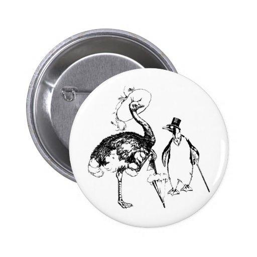 Ms Ostrich y Sr. Penguin Pins