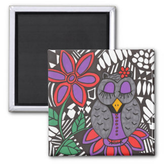 Ms. Owl with flower magnet