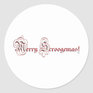 MS - Parchment Red Silver Letters Classic Round Sticker