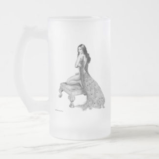 Ms Peacock Frosted Mug