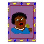 Ms Perl Sings The Blues - azules arte popular Felicitaciones