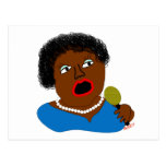 Ms Perl Sings The Blues - azules arte popular Postal