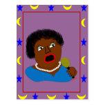 Ms Perl Sings The Blues - azules arte popular Postales