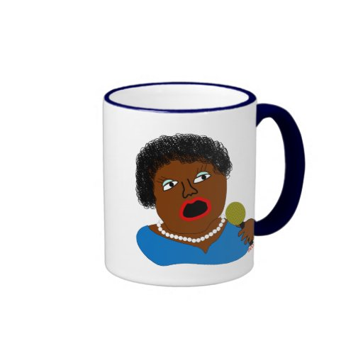 Ms Perl Sings The Blues - azules arte popular Taza