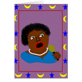 Ms. Perl Sings The Blues - Blues Folk Art Card