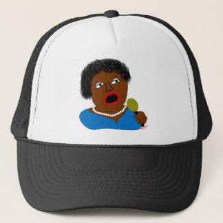 Ms. Perl Sings The Blues - Blues Folk Art Trucker Hat