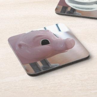 ms PIGGY 6 set customizable cork back coasters