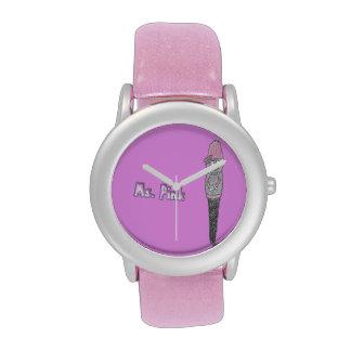 Ms Pink Character Watch Reloj