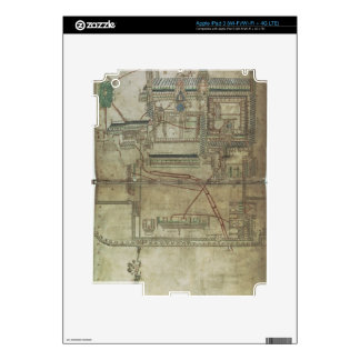 Ms R 171 f.285 Plan of Canterbury Cathedral and th iPad 3 Decal