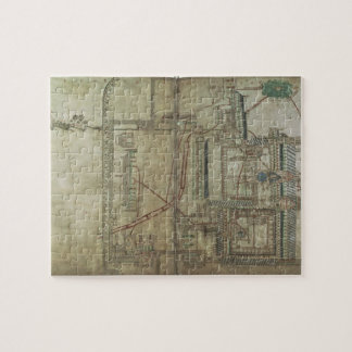 Ms R 171 f.285 Plan of Canterbury Cathedral and th Jigsaw Puzzle