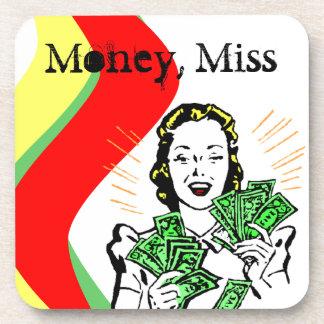 Ms retro de Srta. Mississippi del dinero del práct Posavasos De Bebida