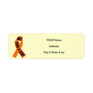 MS Ribbon Return Address Labels