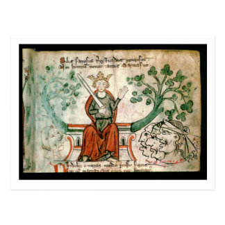 Ms Royal 20 A11  Richard I (1157-99) (The Lion-Hea Postcard
