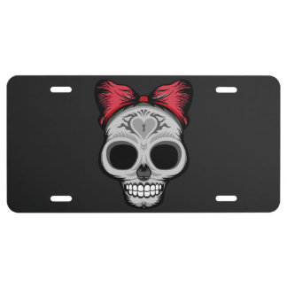 Ms. Sugar Skull License Plate