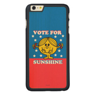 Ms Sunshine Election - voto para la sol Funda De Arce Carved® Para iPhone 6 Plus