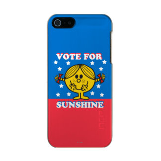 Ms Sunshine Election - voto para la sol Funda Para iPhone 5 Incipio Feather Shine