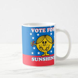 Ms Sunshine Election - voto para la sol Taza De Café
