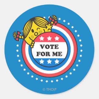Ms. Sunshine - Vote For Me Classic Round Sticker