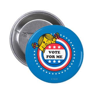 Ms Sunshine - voto para mí Pin Redondo De 2 Pulgadas