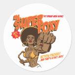 Ms. Super Foxy Classic Round Sticker