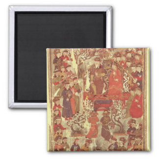 Ms. Supp. Pers.Genghis Khan and his wife 2 Inch Square Magnet